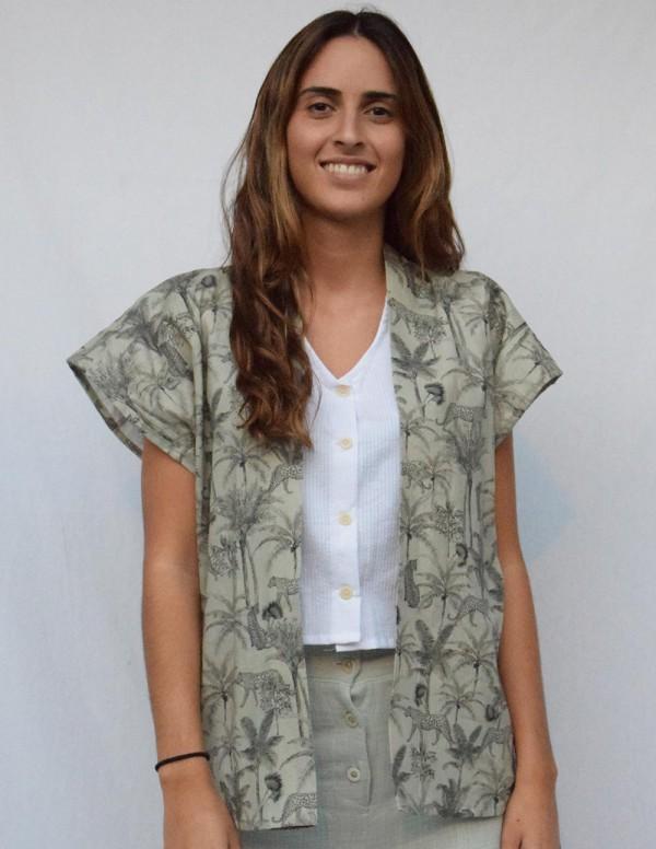 Kimono safari verde