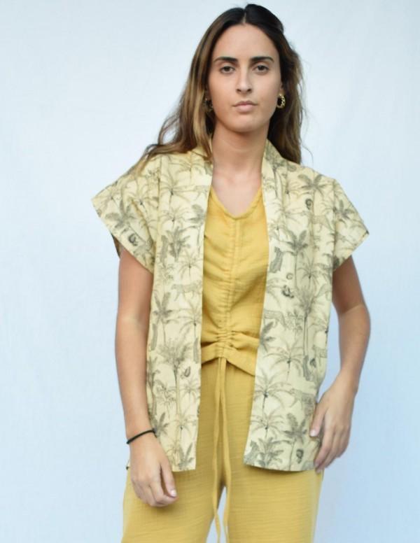 Kimono safari mostaza