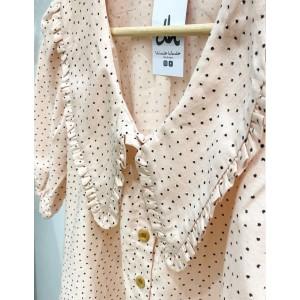Blusa marsan pico escote rosa