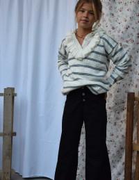 Pantalón culotte jean negro