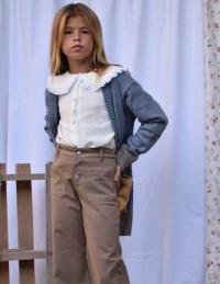 Pantalón culotte jean marrón