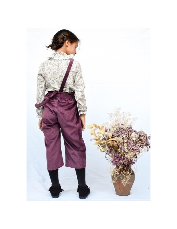 pantalon mini pana rasada burdeos