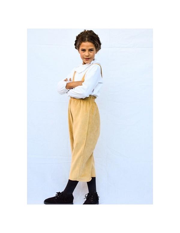 pantalon midi pana rasada mostaza