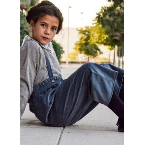 pantalon mini pana rasada azul