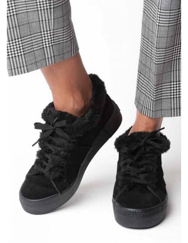 Zapatillas Fur Negras