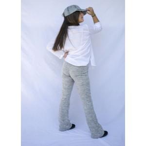 pantalon campana punto gris