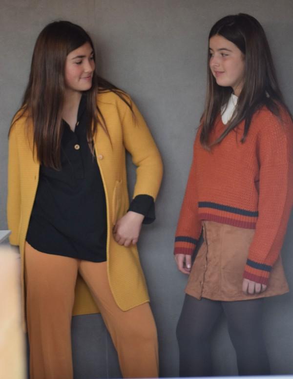 Pantalón Midi Punto Mostaza