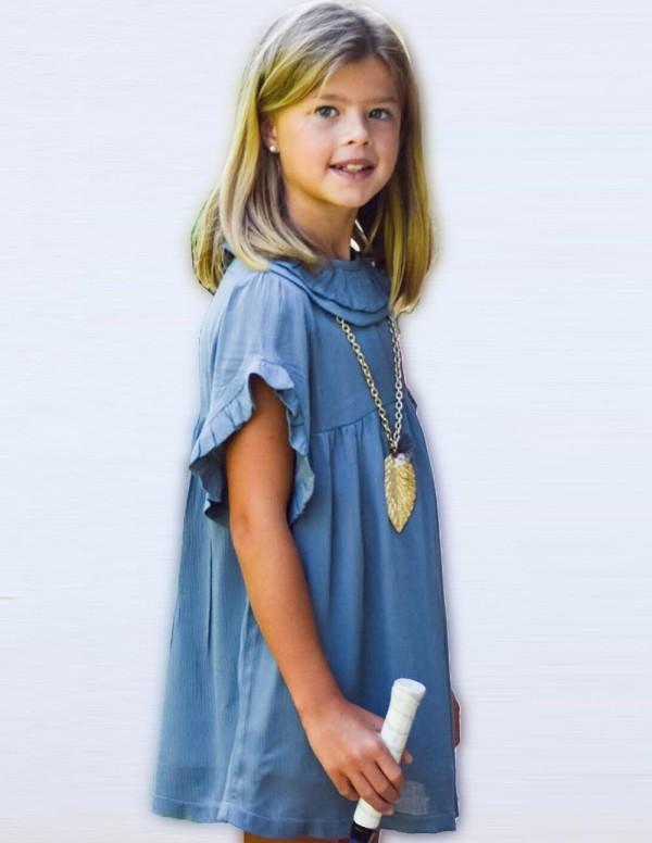 Vestido Junior Brusan Azul