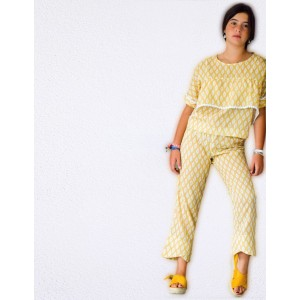 Pantalon Teen Mosaico Mostaza