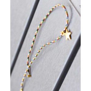 Pulsera multicolor estrella