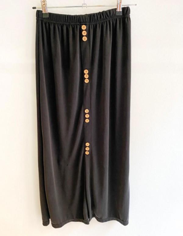 Falda de punto negra