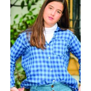 Blusa country azul