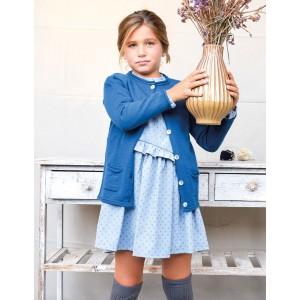 Vestido country flores azul