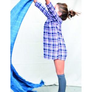 Vestido tartan azul