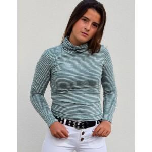 Camiseta c/v rayas verdes