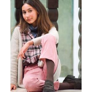 Pantalón campana pana rosa