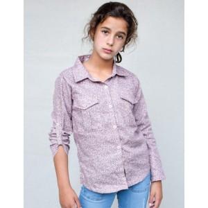 Blusa bolsillos liberty rosa