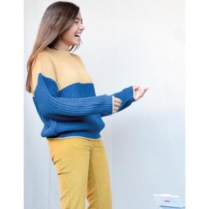 Jersey bicolor azul/camel